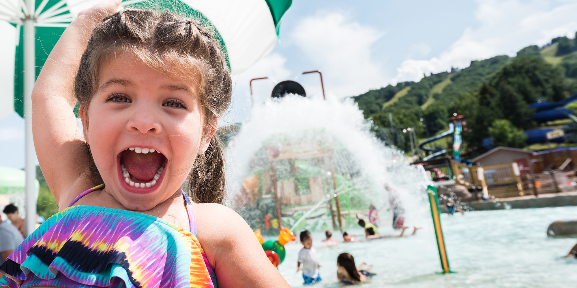 Happy child at camelbeach mountain water park