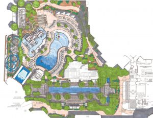Concept for resort waterfront area
