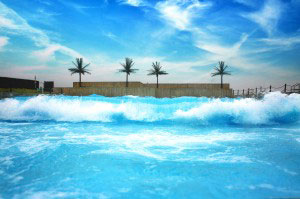 Wave Pool with rolling waves at Camelbeach