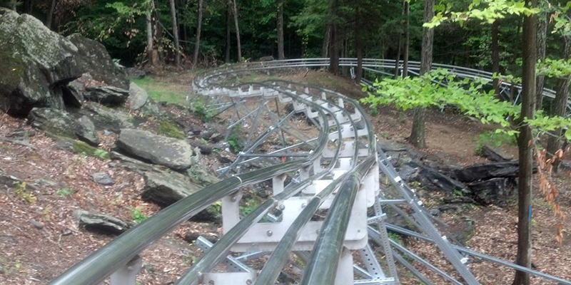 Track for Berkshire Mountain Coaster