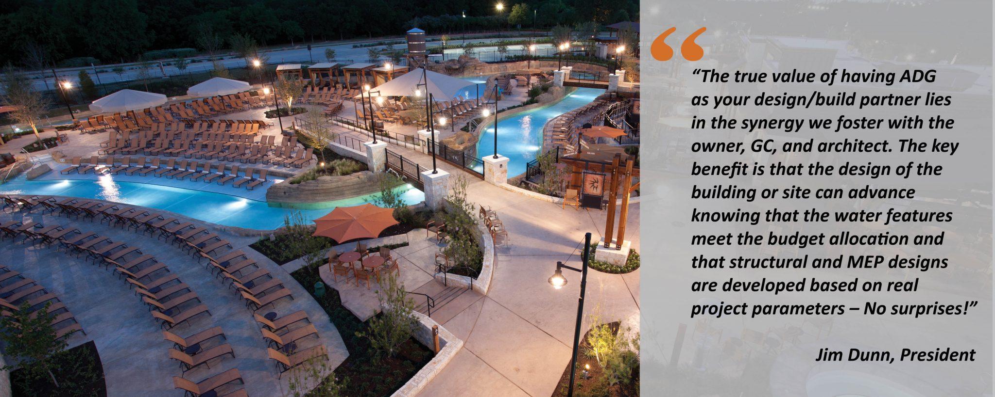 resort water area quotation