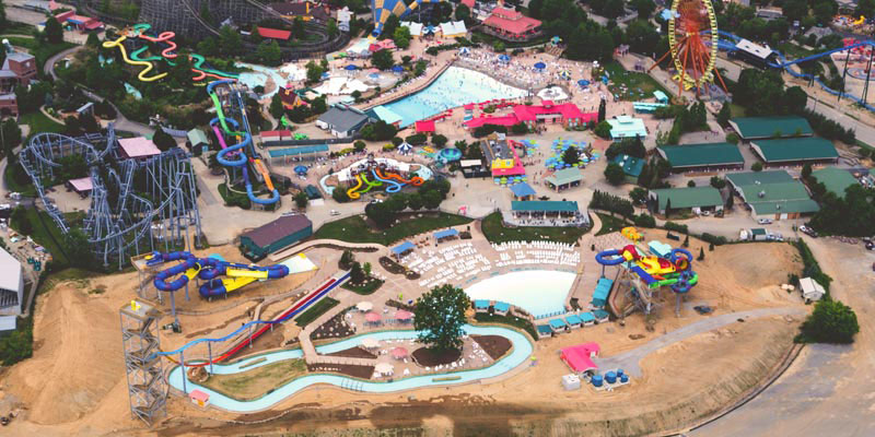Kentucky Kingdom And Hurricane Bay Aerial Water Park