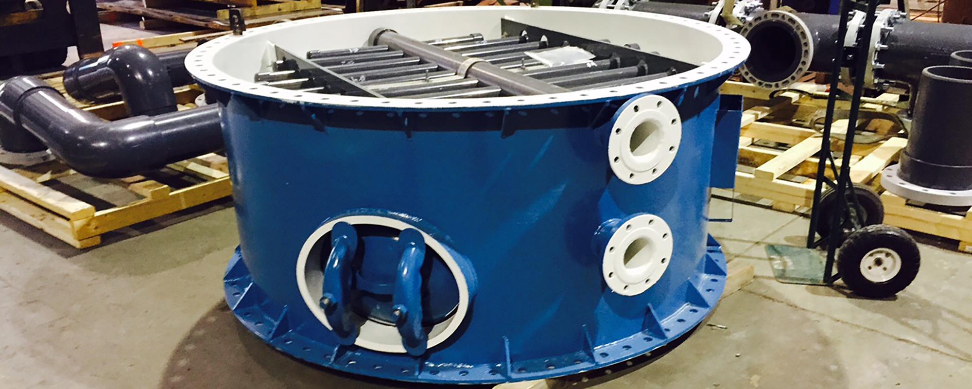 large blue circular hvs filter
