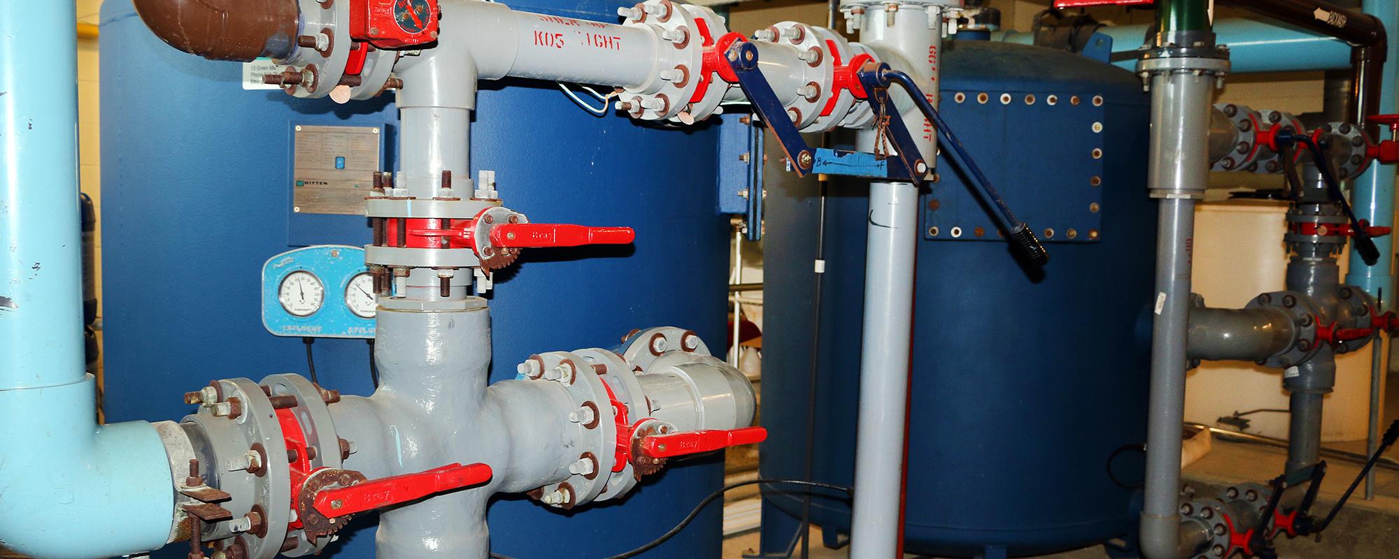 A blue filtration system