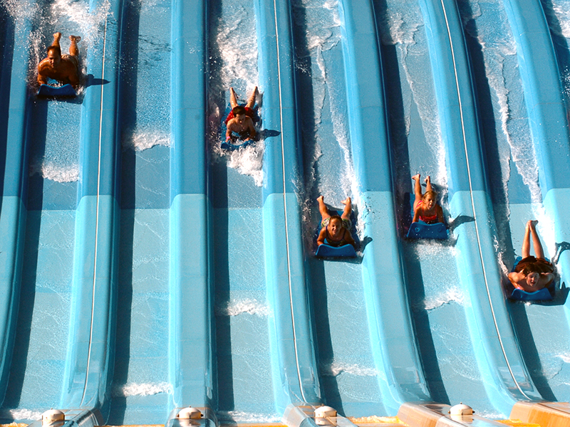 The mat slides at Camelbeach.