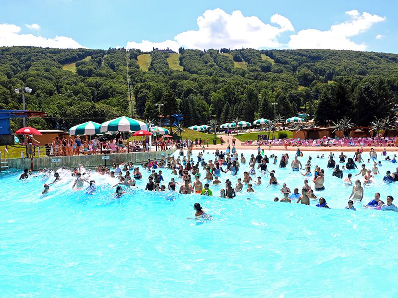 People enjoying the Wavepool.