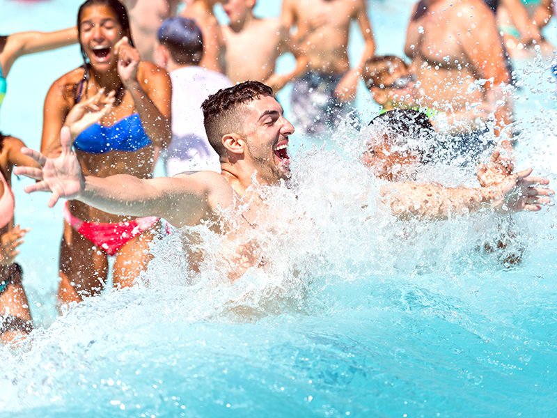 People in the Camelbeach Wavepool