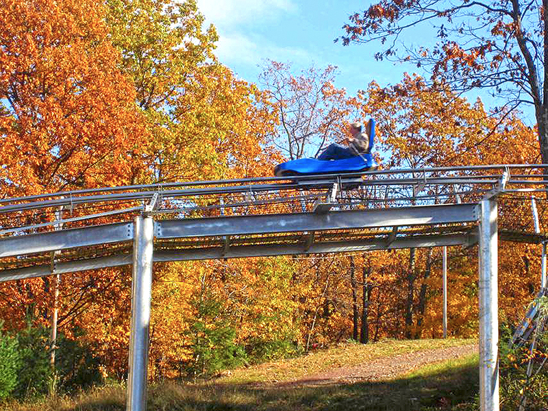 The Camelback Coaster in Fall.