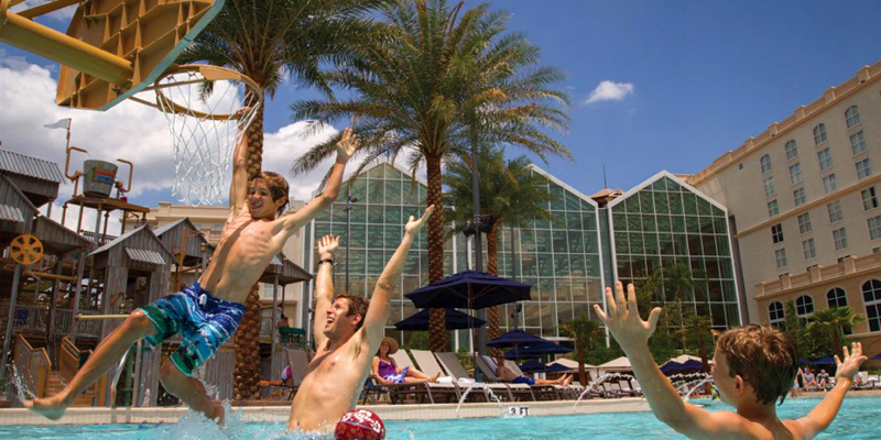 Gaylord Palms Pool Bsketball