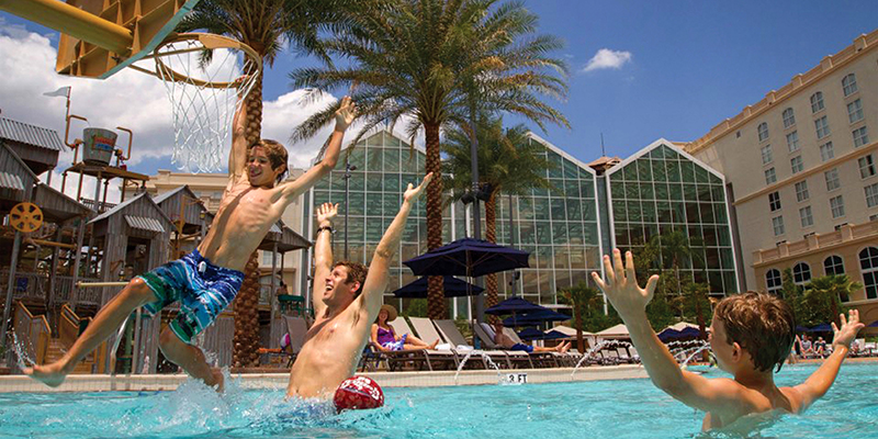 Gaylord Palms Pool Basketball