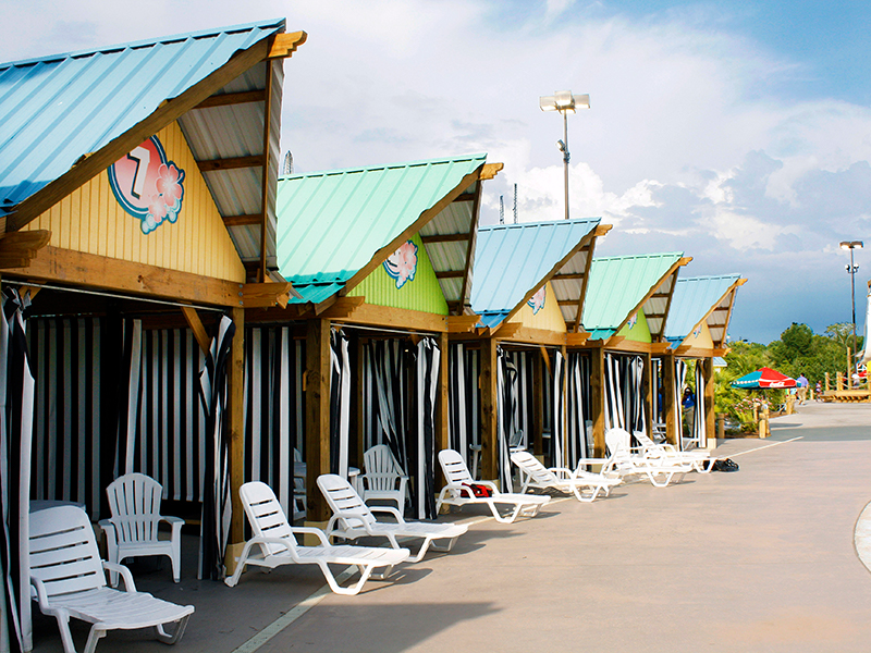 Row of Cabanas at Six Flags Over Georgia