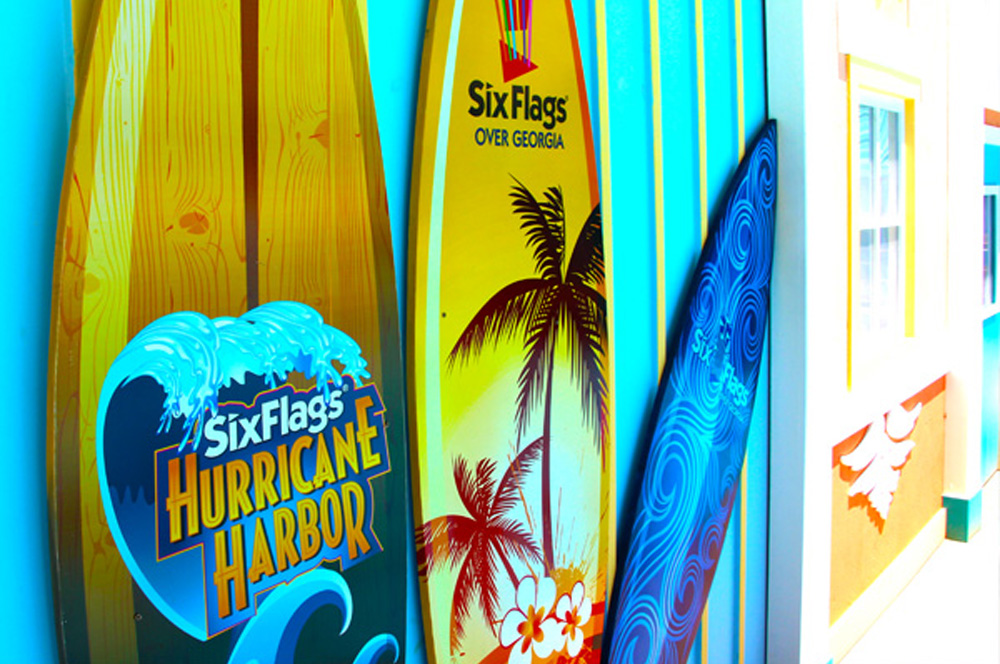 Six Flags Over Georgia Surf Boards