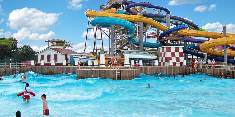 Six Flags gurnee wave pool