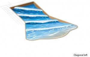 DiagonalLeft waves