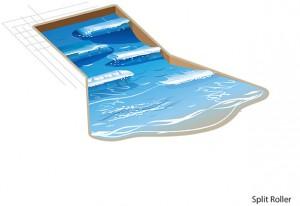 SplitRoller waves