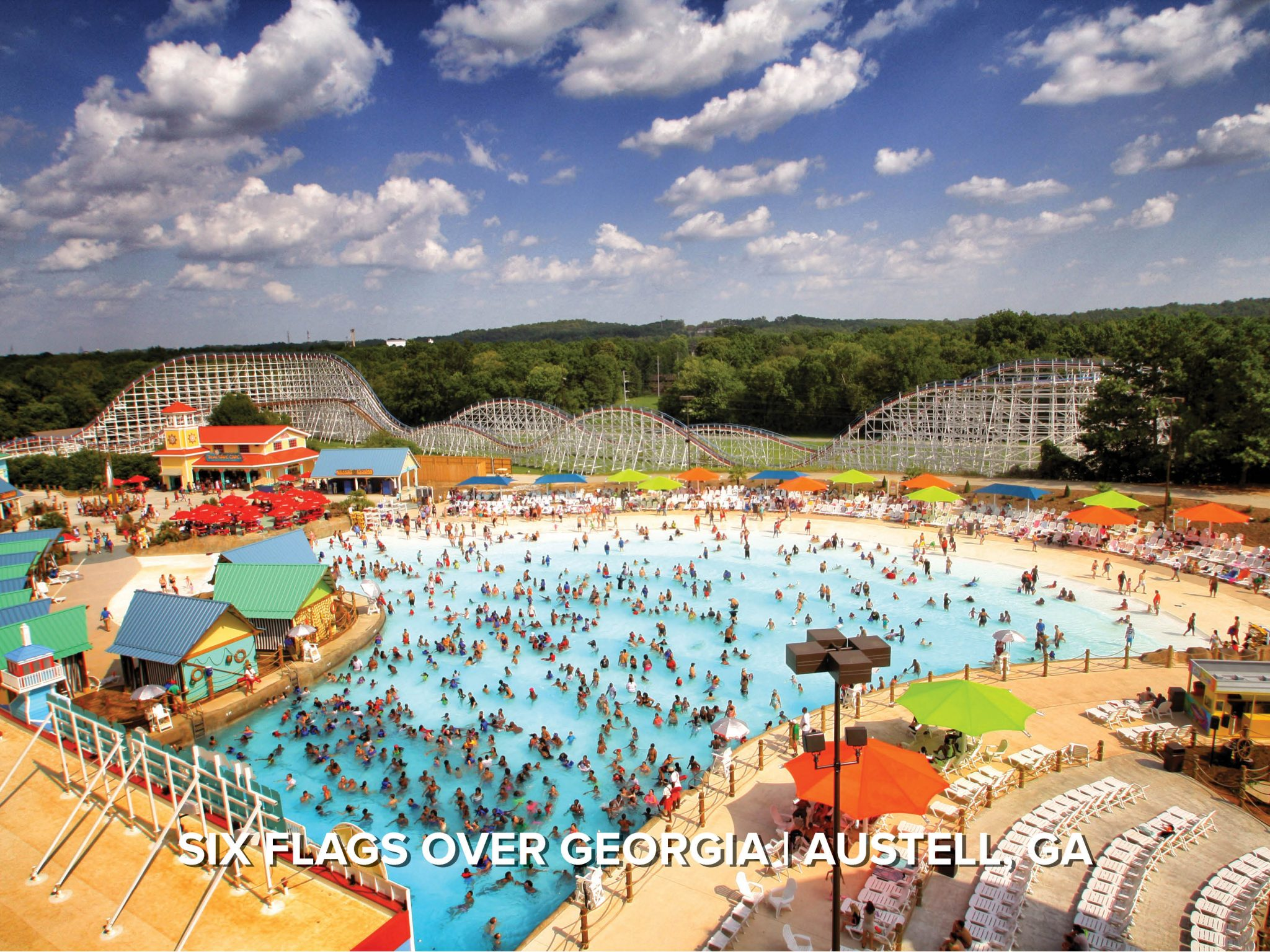 six flags wave pool