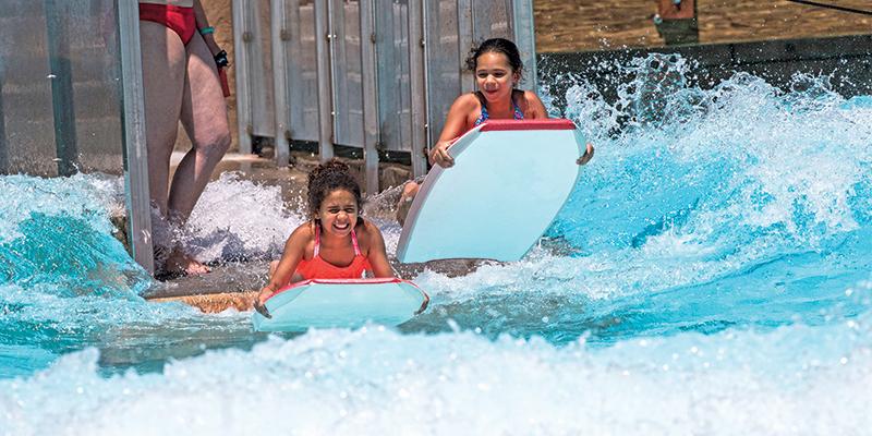 Boogie boarding surf ride