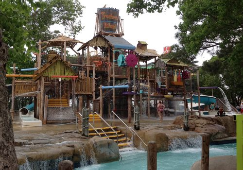Kids Playing on the SplashTown Multi-Level Play Structure