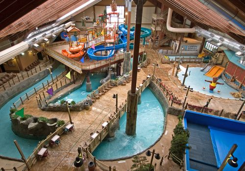 Overview of Great Escape Lodge Indoor Waterpark