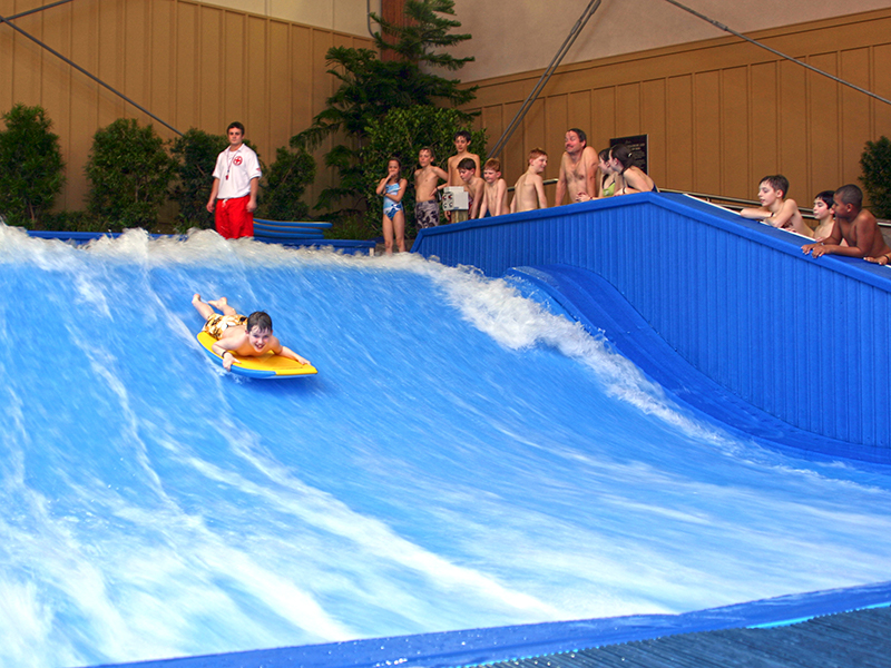 Kid Riding the Flowrider