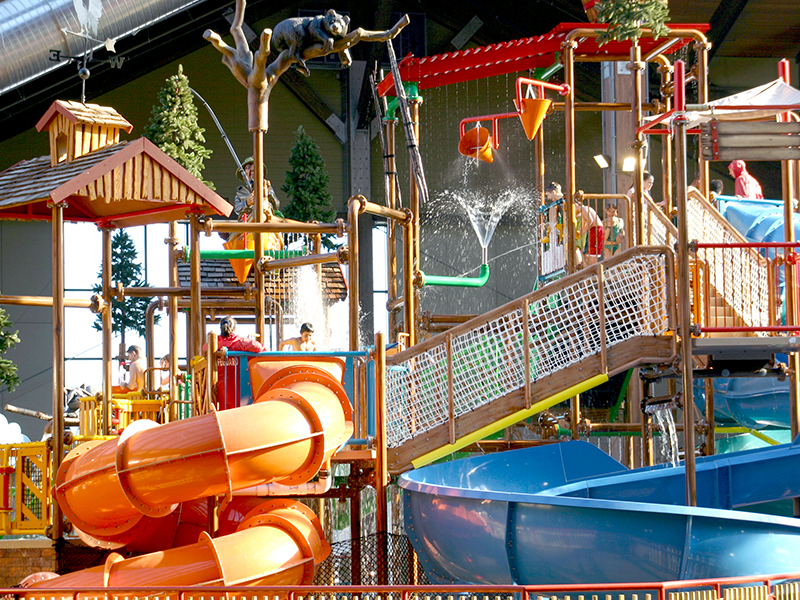 The Kids Play Structure at Six Flags Great Escape