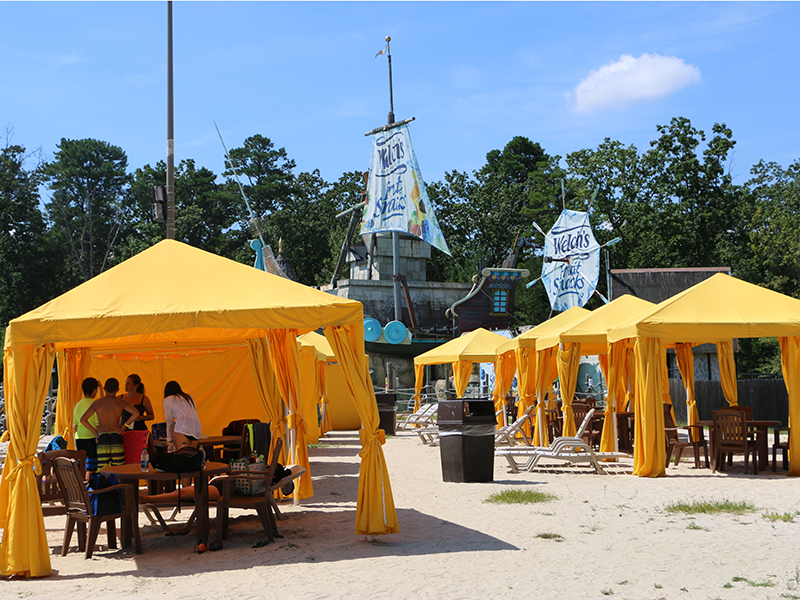 Six Flags New Jersey Cabanas