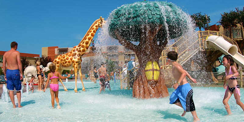 Active play area for children at Kalahari Resort in Sandusky Ohio