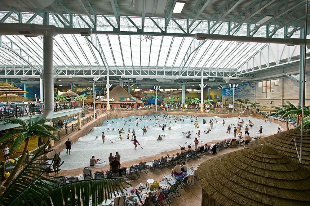 Wave pool at Kalahari Resort in Sandusky Ohio