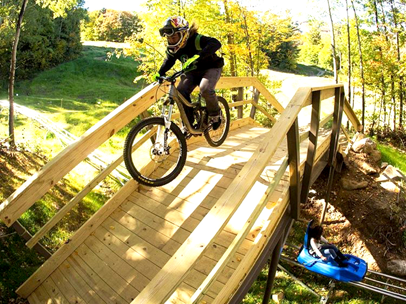 Killington Mountain Coaster under the Mountain Bike Trails
