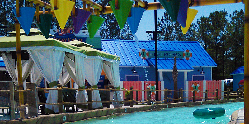 Guests Can Float Along the Adventure River and Enjoy Views of a Caribbean Theme