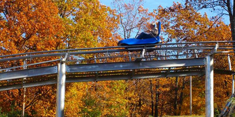 Mountain Coaster in the Fall