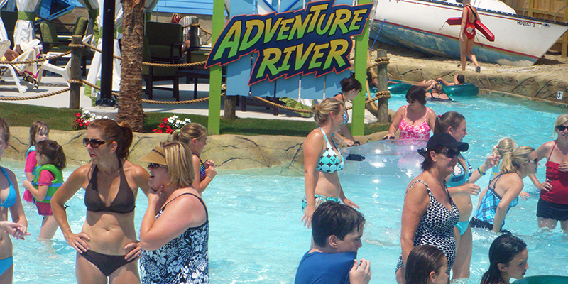 Families Enjoying the Adventure River Together