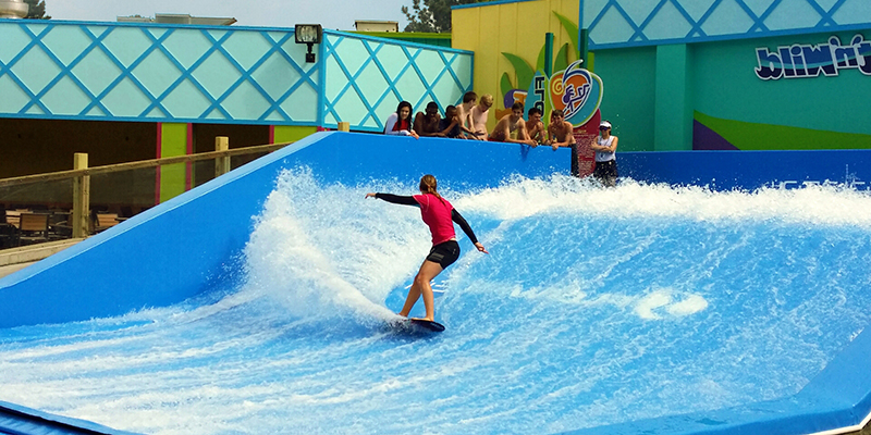 Girl Surfing on the Flow Rider
