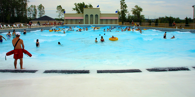 Guests Enjoying Variable Wave Patterns in the Wave Pool