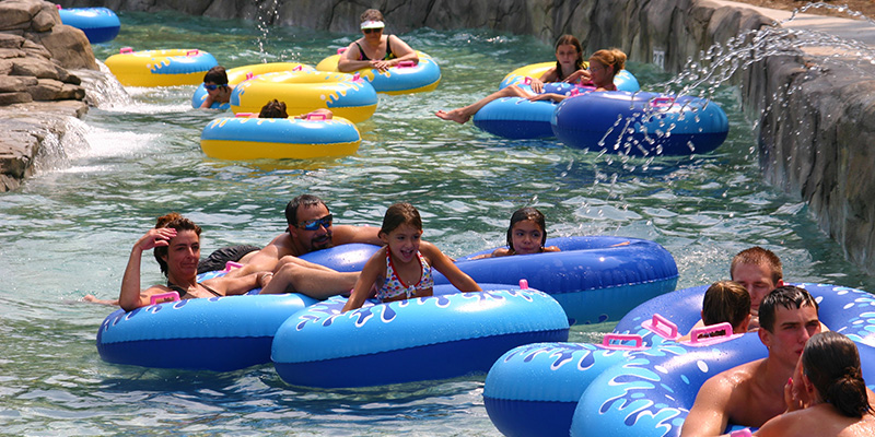 Guests Floating Along the Adventure River