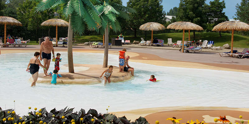 Kids Playing in the Activity Pool at Amazoo Waterpark