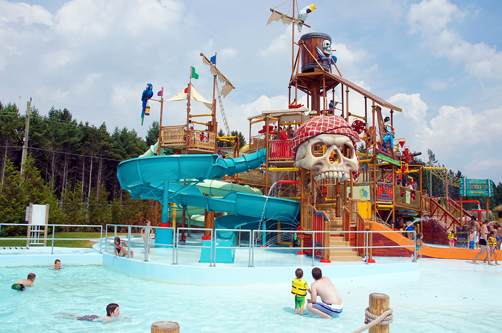 Guests Playing in the Activity Pool at the Multi Level Play Structure