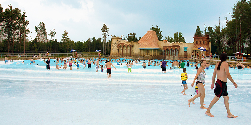 Guests in the Wave Pool at Calypso Waterpark