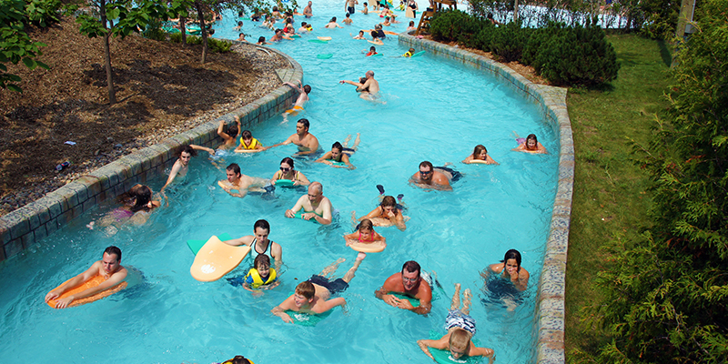 Guests Floating Along the Adventure River at Calypso Waterpark