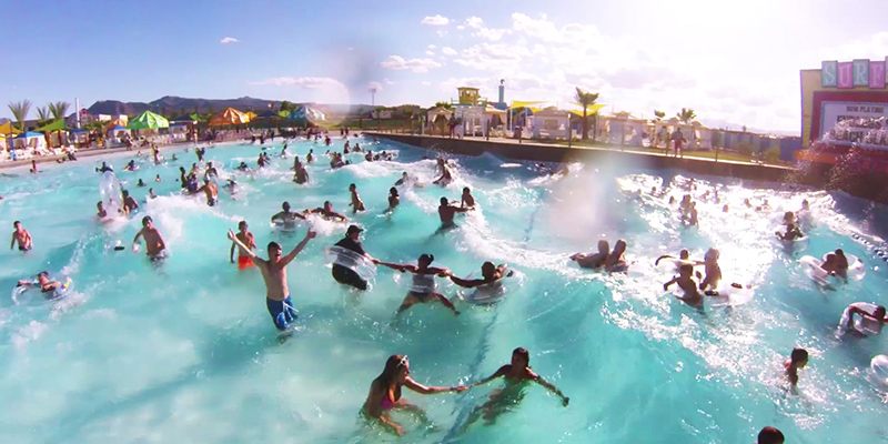 Guests Enjoying the Wave Pool