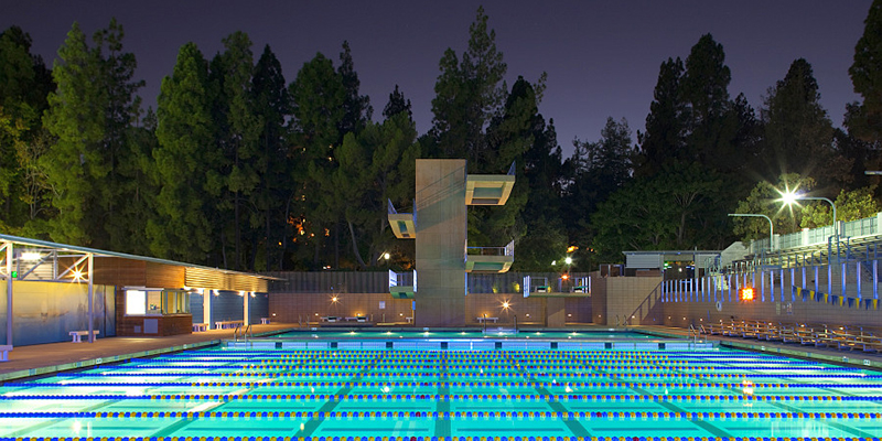 Front View of Diving Platforms at UCLA