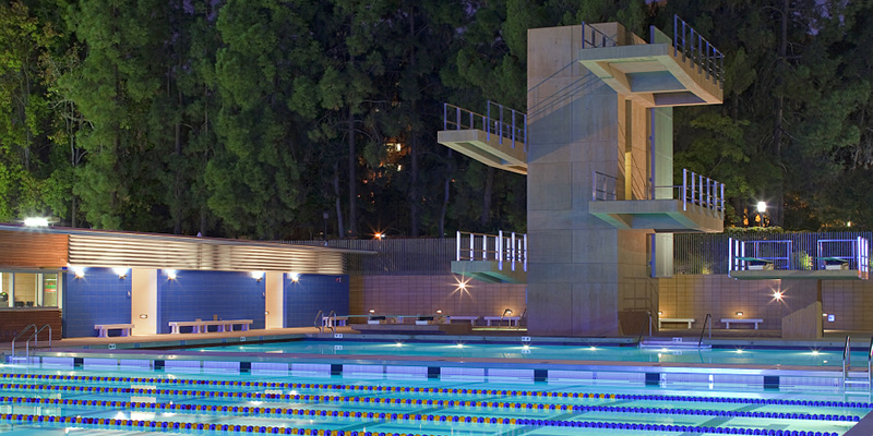 View of Diving Platforms at UCLA