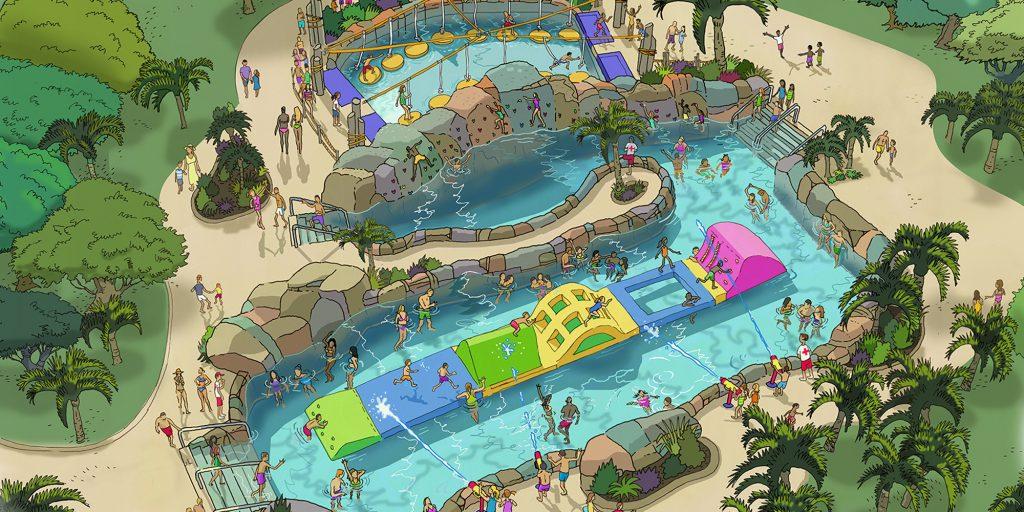 ADG Water Ride Adventure Lagoon Rendering