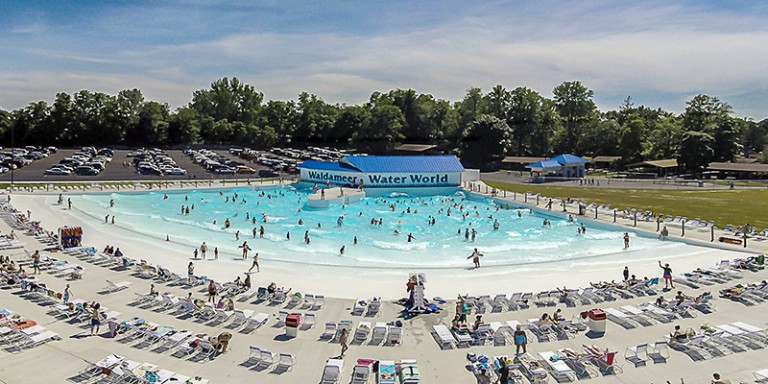 Overview of Wave Pool at Waldameer's Water World