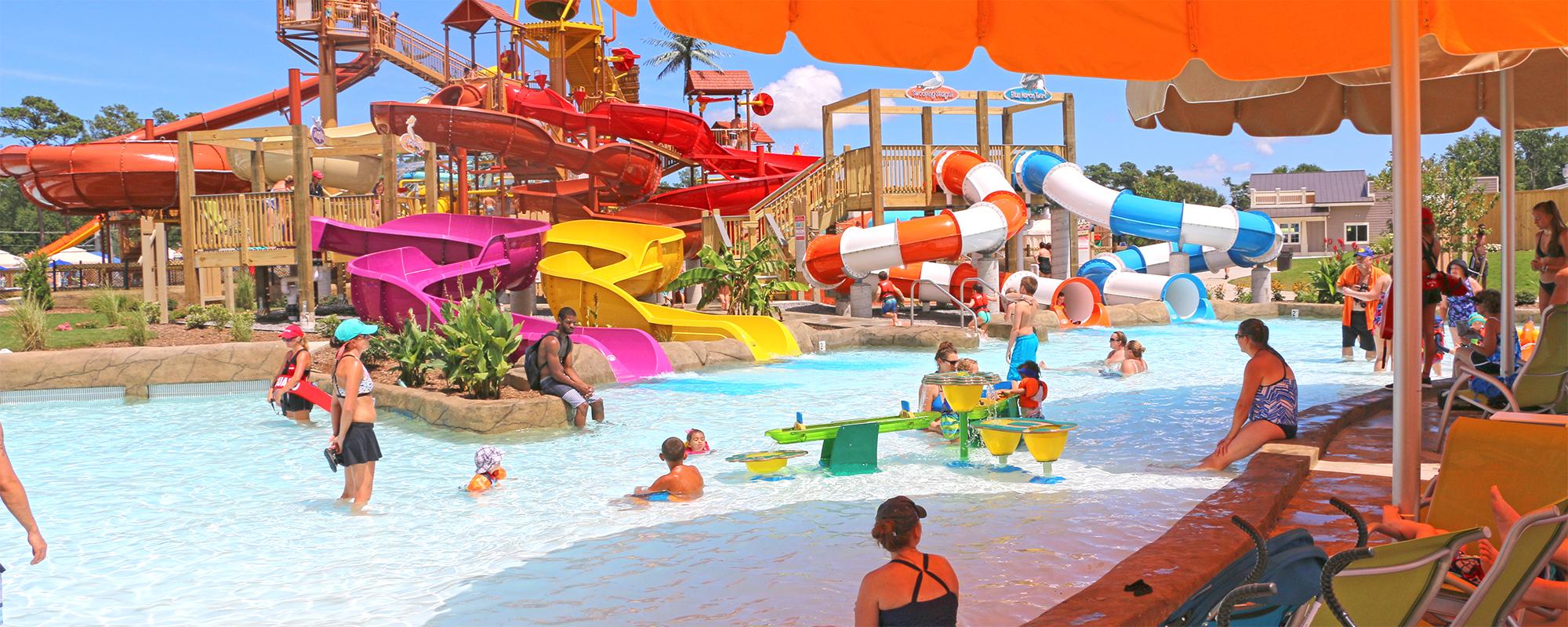 kids wave pool area