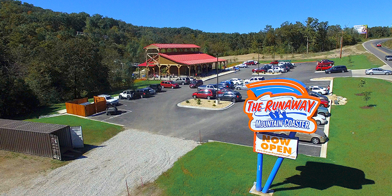 Branson the Runaway Sign and Property with full parking lot
