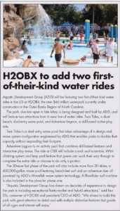H2OBX, water rides, ADG