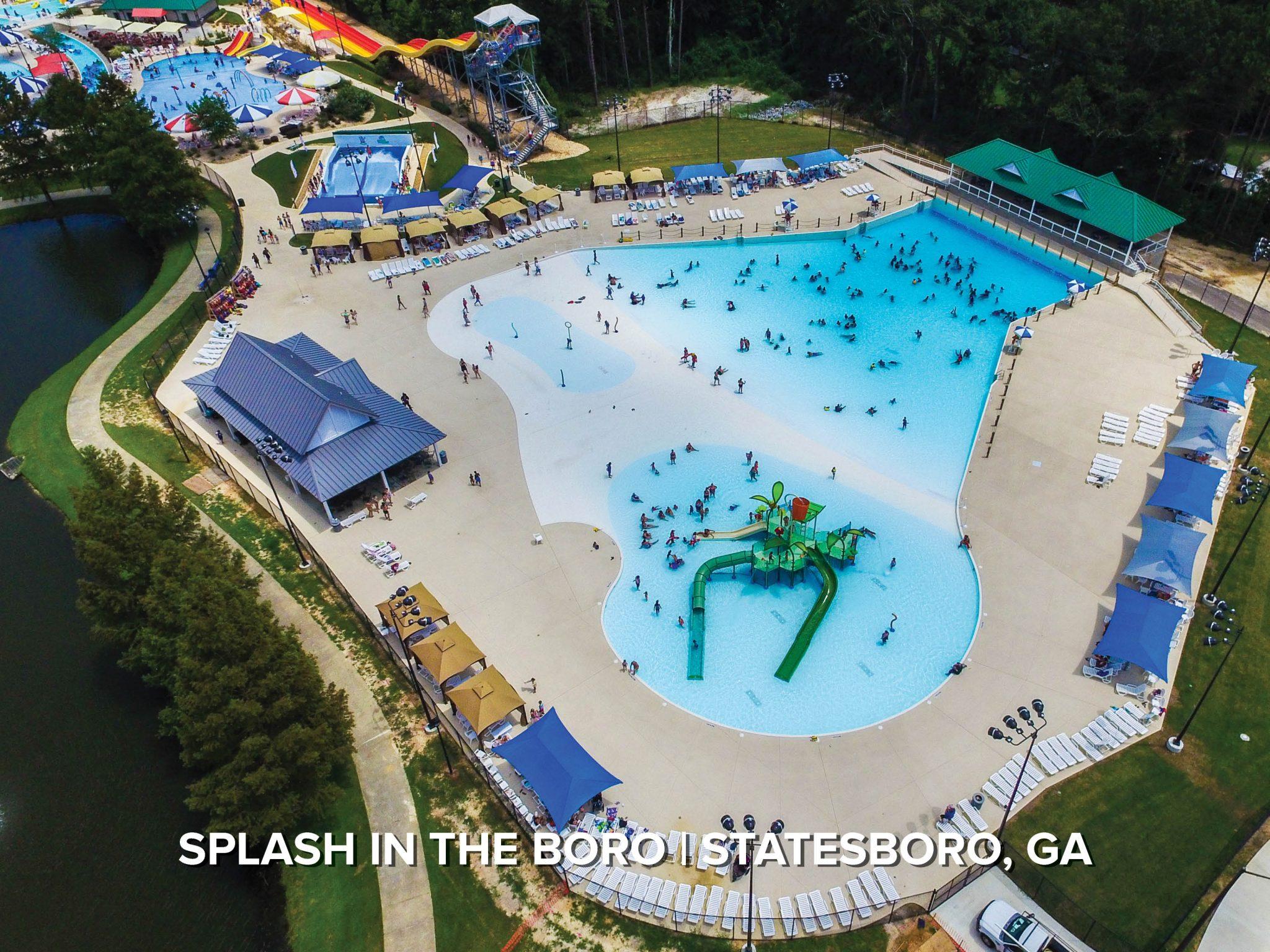wave pool at municipal waterpark