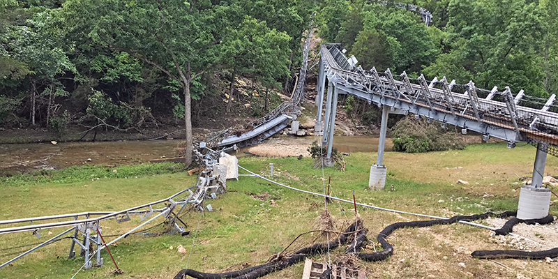 Branson Mtn Coaster Flood Damage