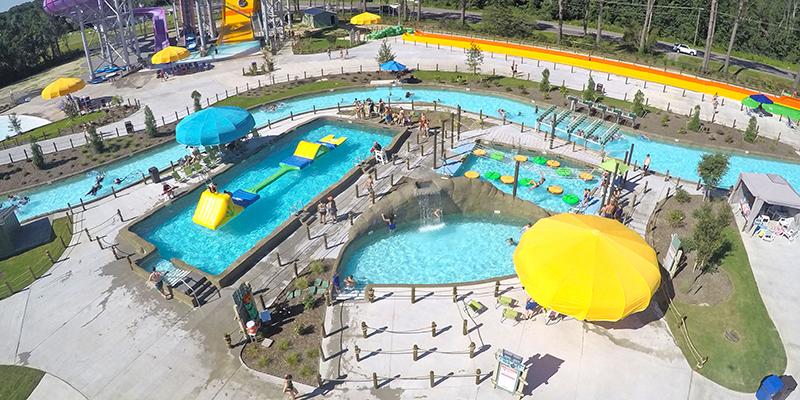 Aerial of Adventure Lagoon ADG Water Ride